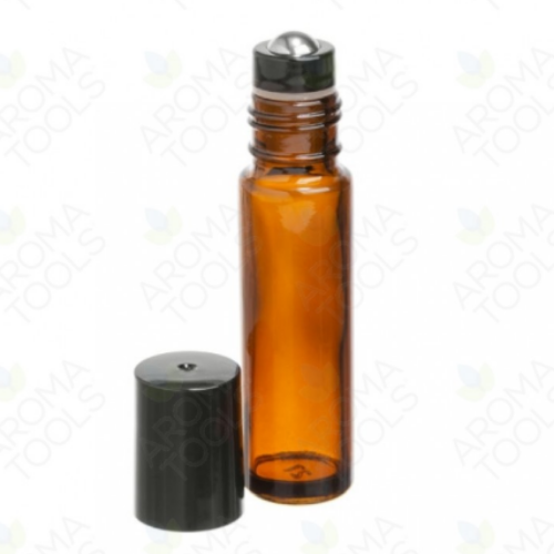 Roll-on ambré de 10ml avec bille métal
